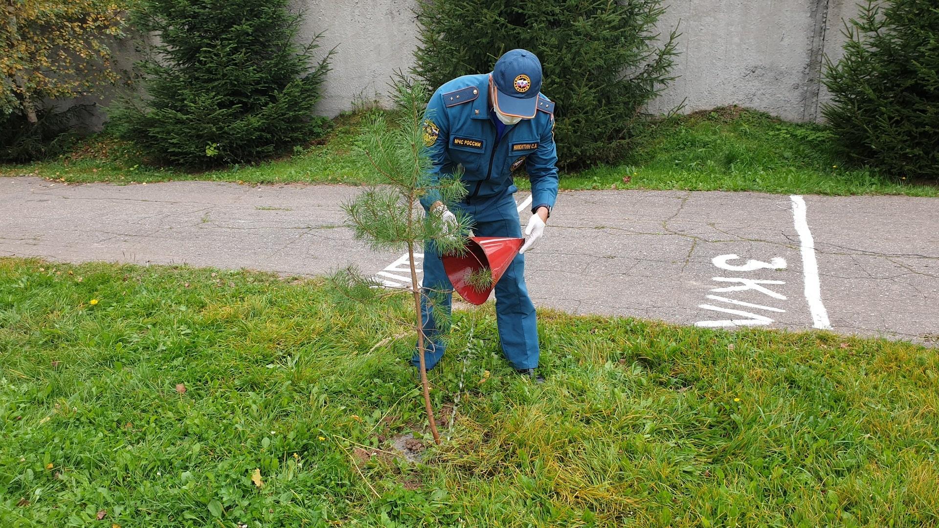 Зеленоградские пожарные присоединились к общероссийской акции «Зеленая Россия»